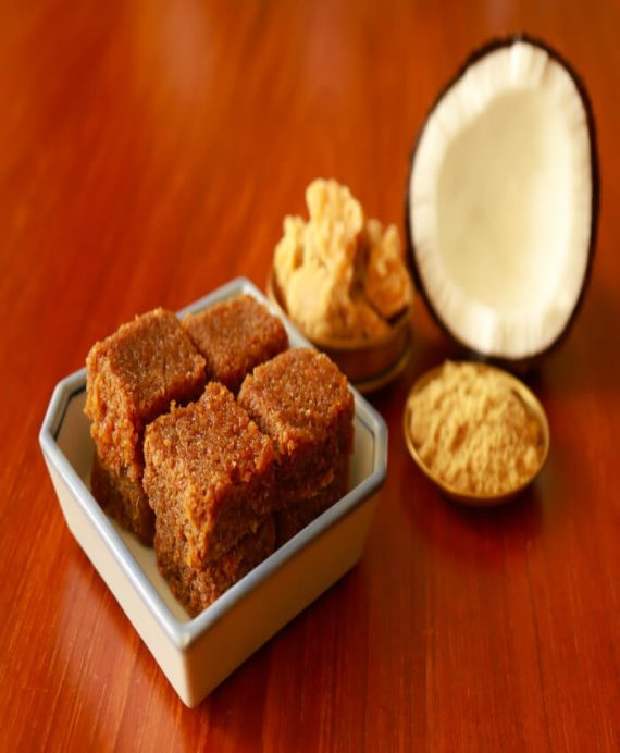 Coconut Jaggery Squares
