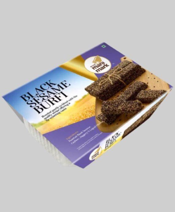Golden Black Sesame Burfy Tray