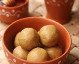 All natural millet laddu made of country sugar and pure sugar displayed beautifully in a bowl