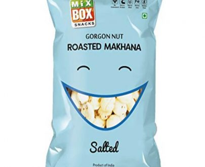 Mix box roasted makhana salt flavour packed in a blue colour pack. Makhana nutrition is enormous.