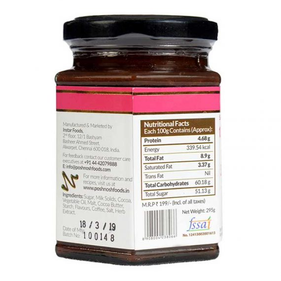 Chocolate fudge ingredients and nutritional value details