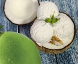 Tender Coconut ICe Cream in coconut shell